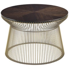 Wire.2 Side Table in Metal Base and Wooden Top by Roberto Cavalli Home Interiors