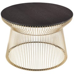 Wire.2 Side Table in Metal Base with Carbalho Grey Color Top by Roberto Cavalli