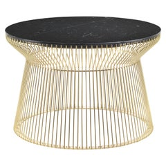 Wire.2 Side Table in Metal Base with Marble Top by Roberto Cavalli
