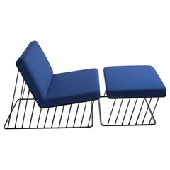 Wired Italic Lounge Chair and Ottoman 'Indoor'