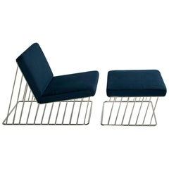 Wired Italic Lounge Chair and Ottoman 'Outdoor'