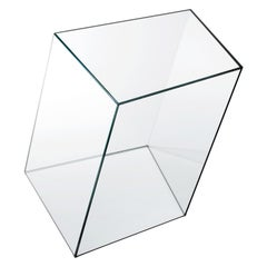 Wireframe Tall Glass Side Table, by Piero Lissoni from Glas Italia
