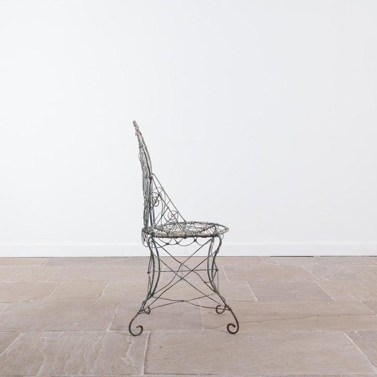 Wirework Garden Chair, Circa 1820 In Good Condition For Sale In York, GB