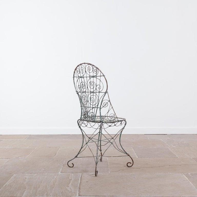 19th Century Wirework Garden Chair, Circa 1820 For Sale