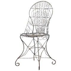 Wirework Garden Chair, Circa 1820