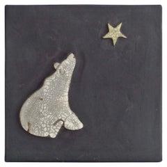 Wish Upon a Star Polar Bear Wall Tile