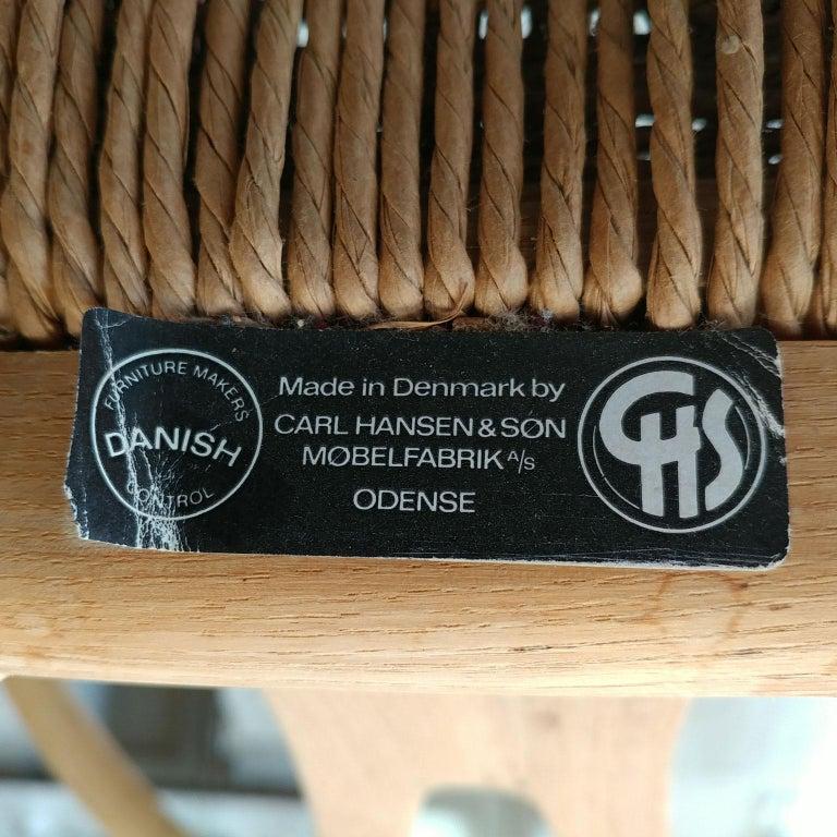 Oak Wishbone Armchairs by Hans Wegner For Sale 4