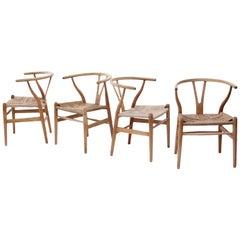 Wishbone Armchairs by Hans Wegner