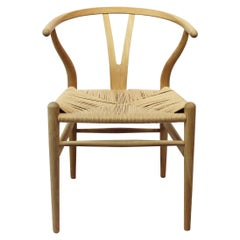 Wishbone Chair, Model CH24, in Oak and Paper Cord by Hans J. Wegner