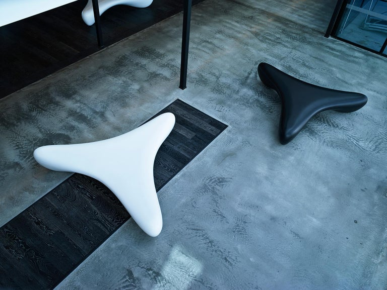 Fiberglass Wishbone, Outdoor and Indoor Sculptural Bench Seat by Brodie Neill For Sale