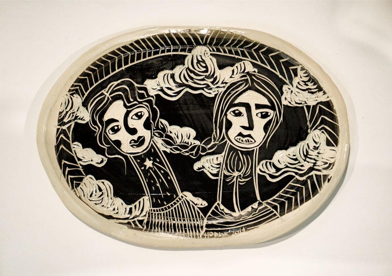 American Wishing Wanders, Carved porcelain For Sale