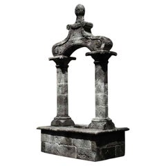 Wishing Well Italian Renaissance Style in Limestone with Antique Patina