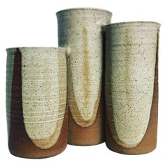 Wishon-Harrell Clustered Stoneware Vases or Planters, 20th Century