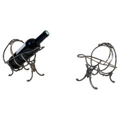 Wiskemann, Pair of Louis the 16th Style Bottle Holders, Silver Plated, Belgium