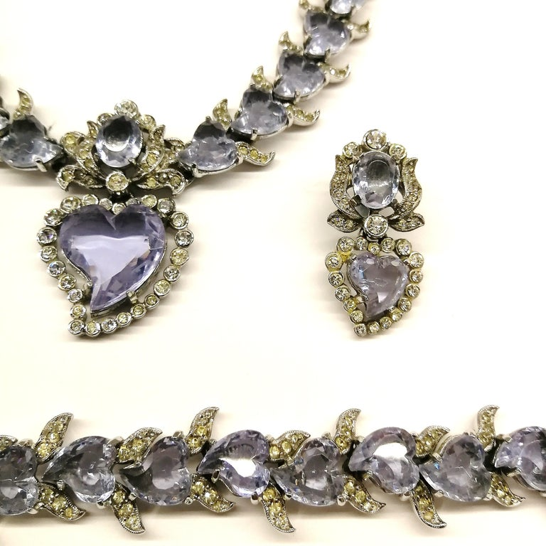 'Witch's heart' parure, Christian Dior by Mitchel Maer, England, early 1950s For Sale 9