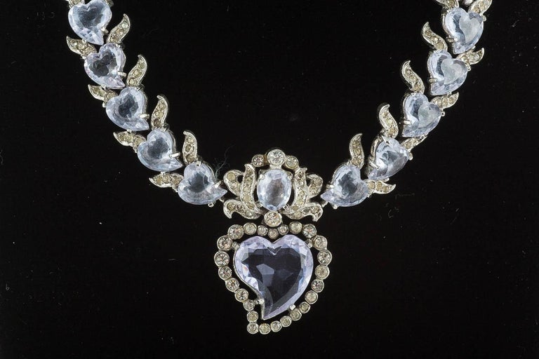 'Witch's heart' parure, Christian Dior by Mitchel Maer, England, early 1950s In Good Condition For Sale In London, GB