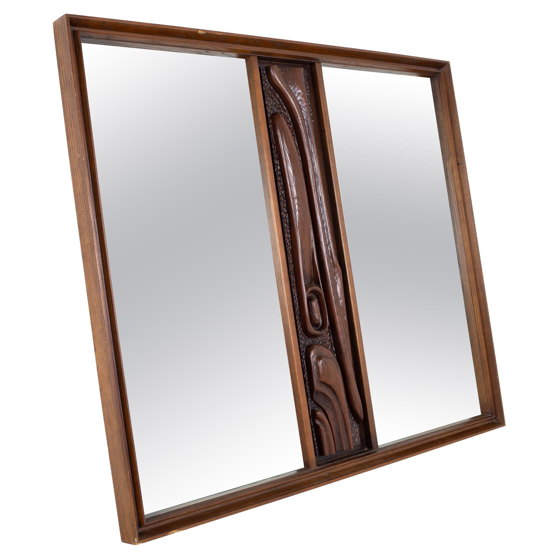 Witco Style Pulaski Mid Century Oceanic Mirror