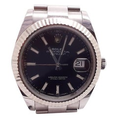 With Papers Rolex Datejust II 126334 Steel Automatic Black Oyster Watch, 2018