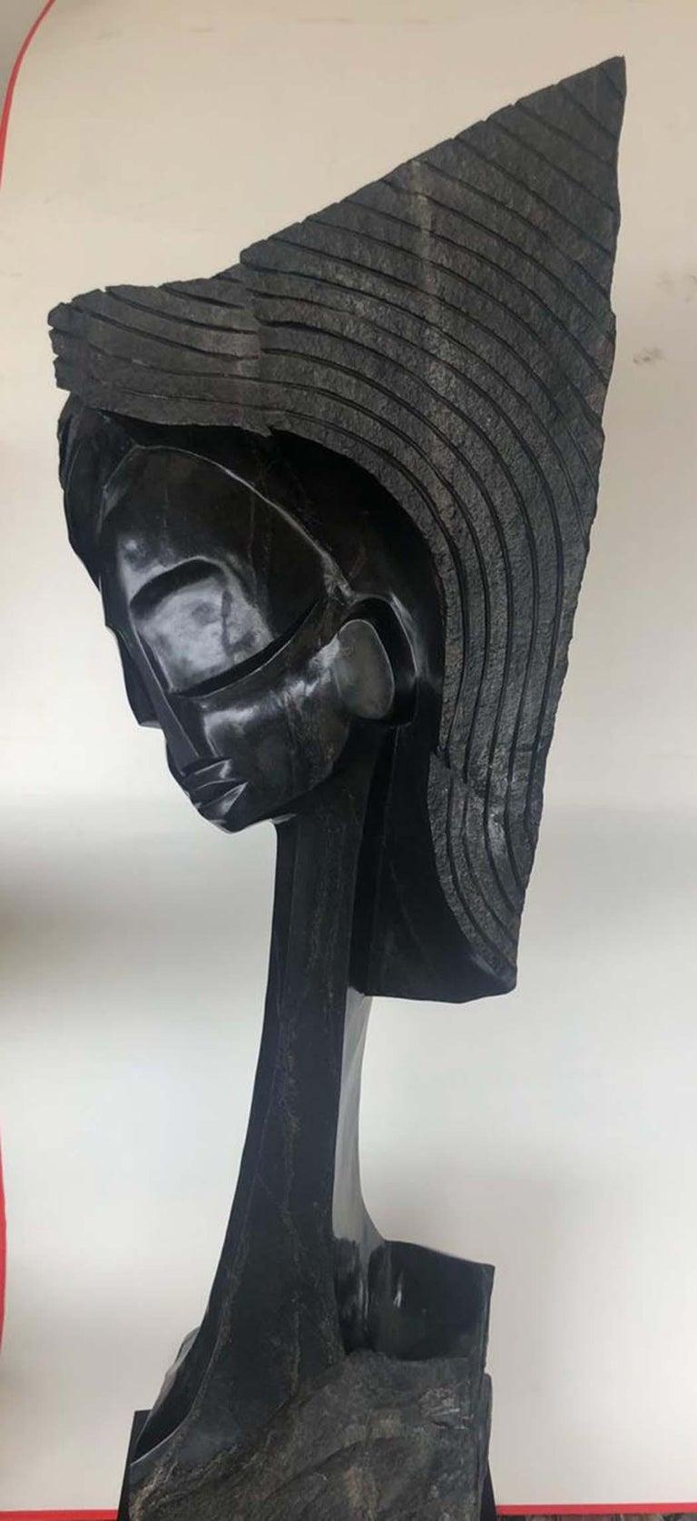 The Model, Shona - Sculpture by Witness Bonjesi