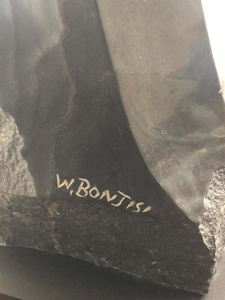 The Model, Shona - Black Figurative Sculpture by Witness Bonjesi