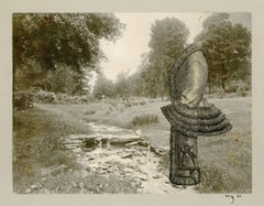 Headless Female Mannequin in a river bed landscape