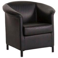 Wittmann Aura Leather Armchair Black