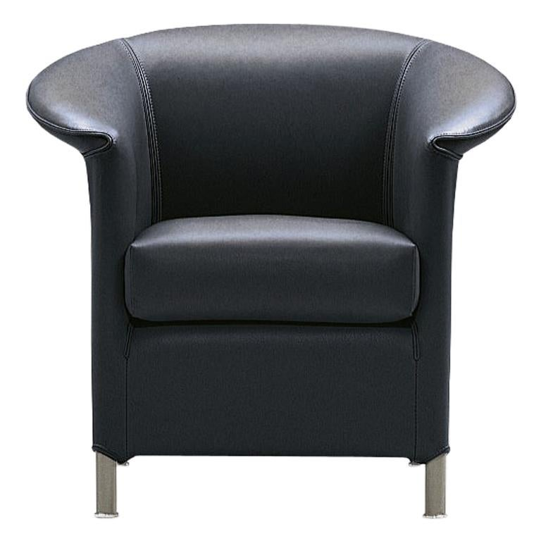 Wittmann Aura Leather Armchair Designed by Paolo Piva For Sale