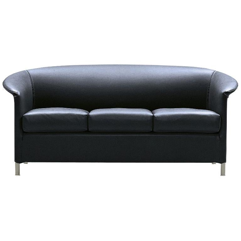 Wittmann Aura Leather Sofa Designed by Paolo Piva
