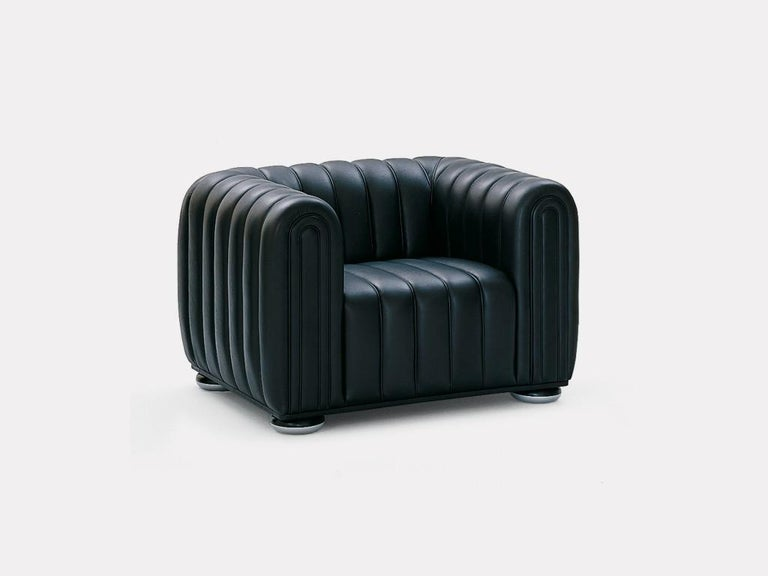 Wittmann Club 1910 Leather Lounge Chair Designed by Josef Hoffmann In New Condition For Sale In New York, NY