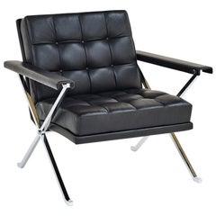 Wittmann Constanze 3/4 Leather Armchair Designed by Johannes Spalt