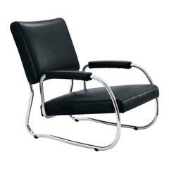 Wittmann Freischwinger Leather Cantilever Chair Designed by Friedrich Kiesler