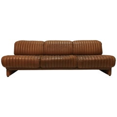 Wittmann Independence Daybed Sofa Patinated Cognac Leather, Austria, 1970s