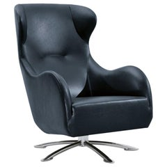Wittmann Jolly Swivel Lounge Chair Designed by Jan Armgardt