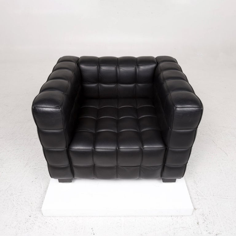 Wittmann Kubus Leather Armchair Black For Sale 1