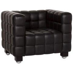 Wittmann Kubus Leather Armchair Black