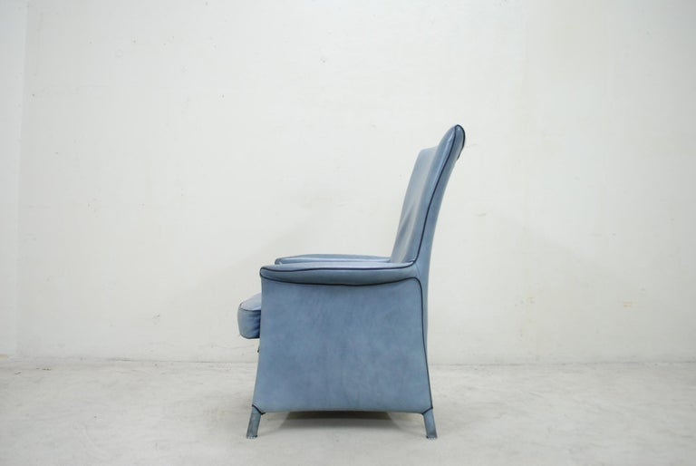 Wittmann Leather Armchair Chair Model Alta Design by Paolo Piva For Sale 6