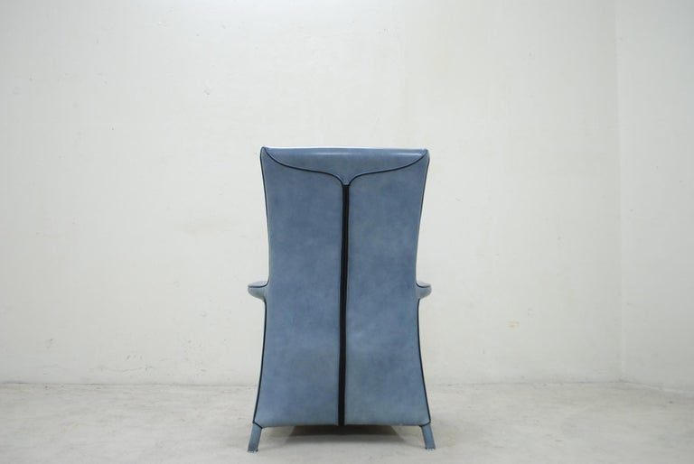 Wittmann Leather Armchair Chair Model Alta Design by Paolo Piva For Sale 7