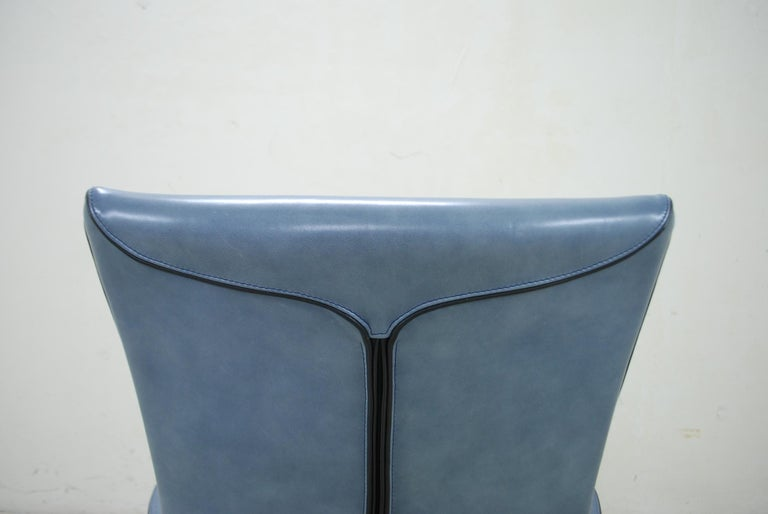 Wittmann Leather Armchair Chair Model Alta Design by Paolo Piva For Sale 8