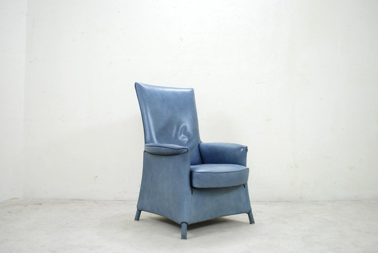 Wittmann Leather Armchair Chair Model Alta Design by Paolo Piva For Sale 9