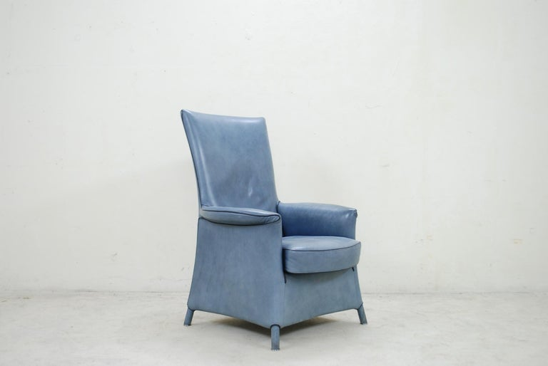 Wittmann Leather Armchair Chair Model Alta Design by Paolo Piva For Sale 10