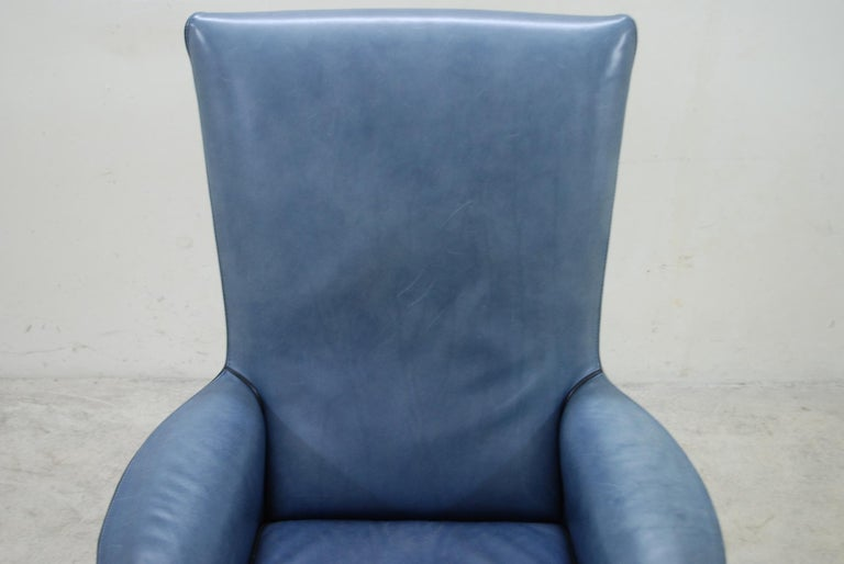 Austrian Wittmann Leather Armchair Chair Model Alta Design by Paolo Piva For Sale