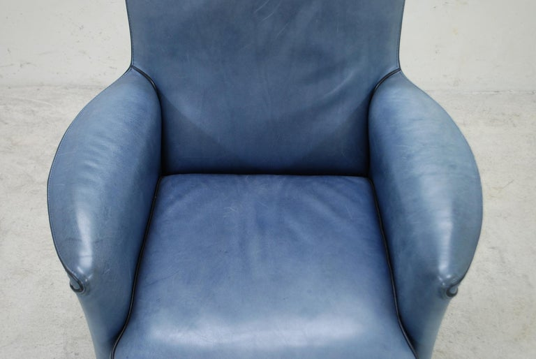Wittmann Leather Armchair Chair Model Alta Design by Paolo Piva In Good Condition For Sale In Munich, Bavaria