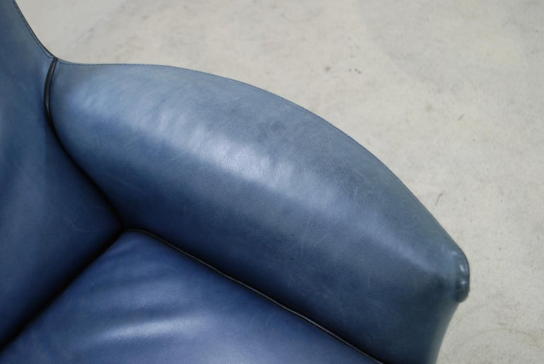 Wittmann Leather Armchair Chair Model Alta Design by Paolo Piva For Sale 1