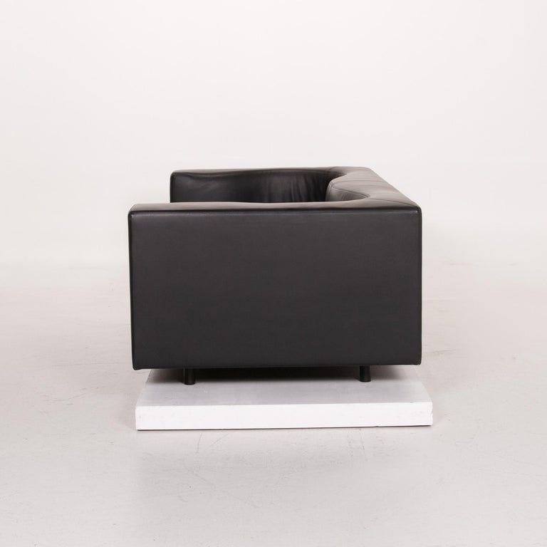 Wittmann Leather Sofa Black Three-Seat 5