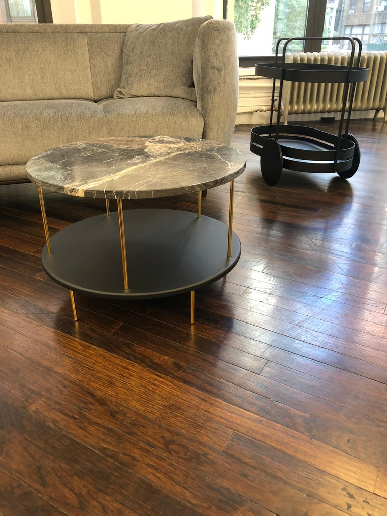 Modern Wittmann Marble DD Table with Gold-Plated Legs Designed by Jaime Hayon For Sale