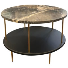 Wittmann Marble DD Table with Gold-Plated Legs Designed by Jaime Hayon