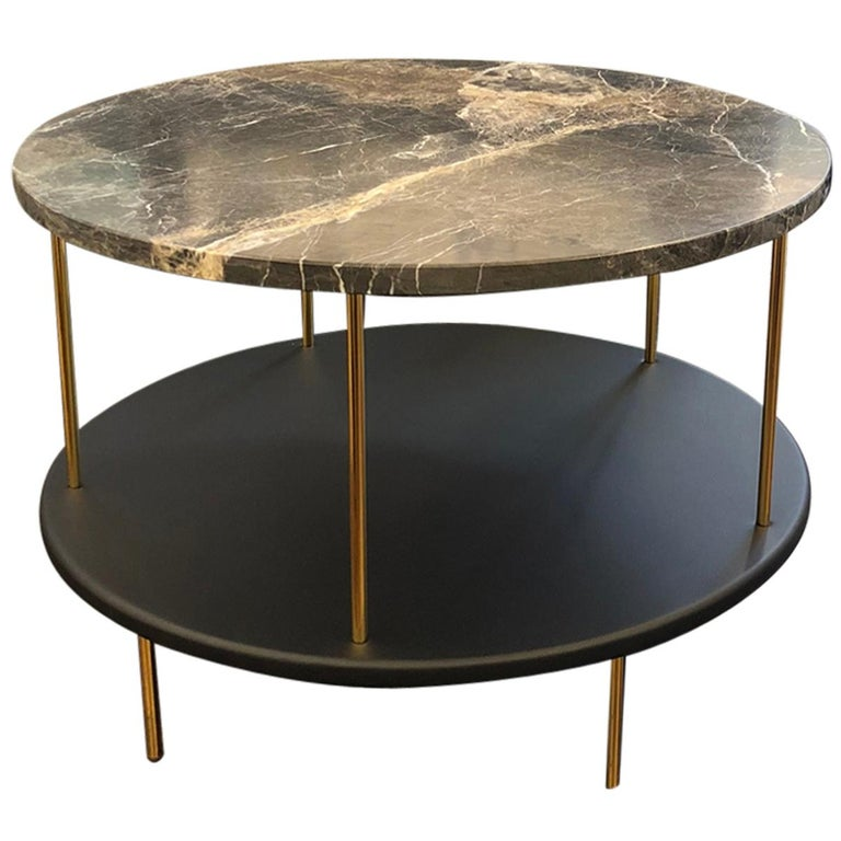 Wittmann Marble DD Table with Gold-Plated Legs Designed by Jaime Hayon For Sale
