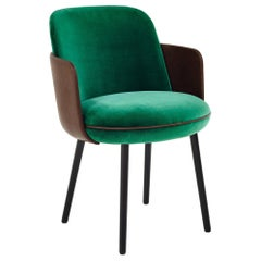 Wittmann Merwyn Armchair with Wooden Legs Designed by Sebastian Herkner