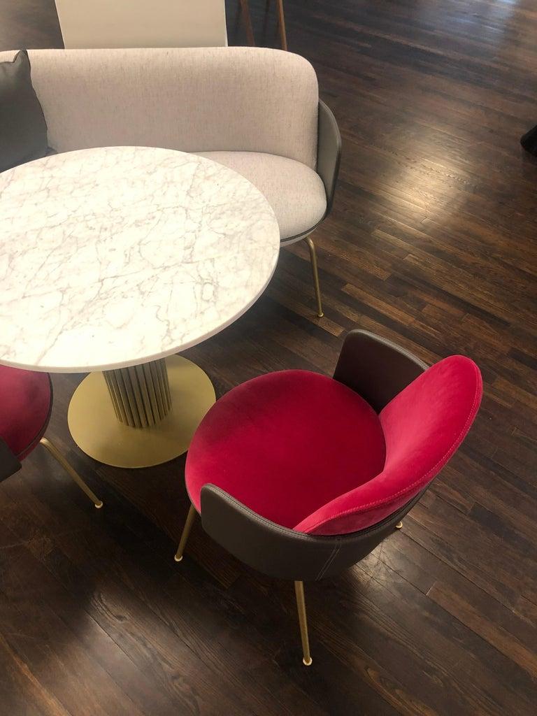 Brass Wittmann Merwyn Armchairs, Sofa Bench and Miles Table by Sebastian Herkner For Sale