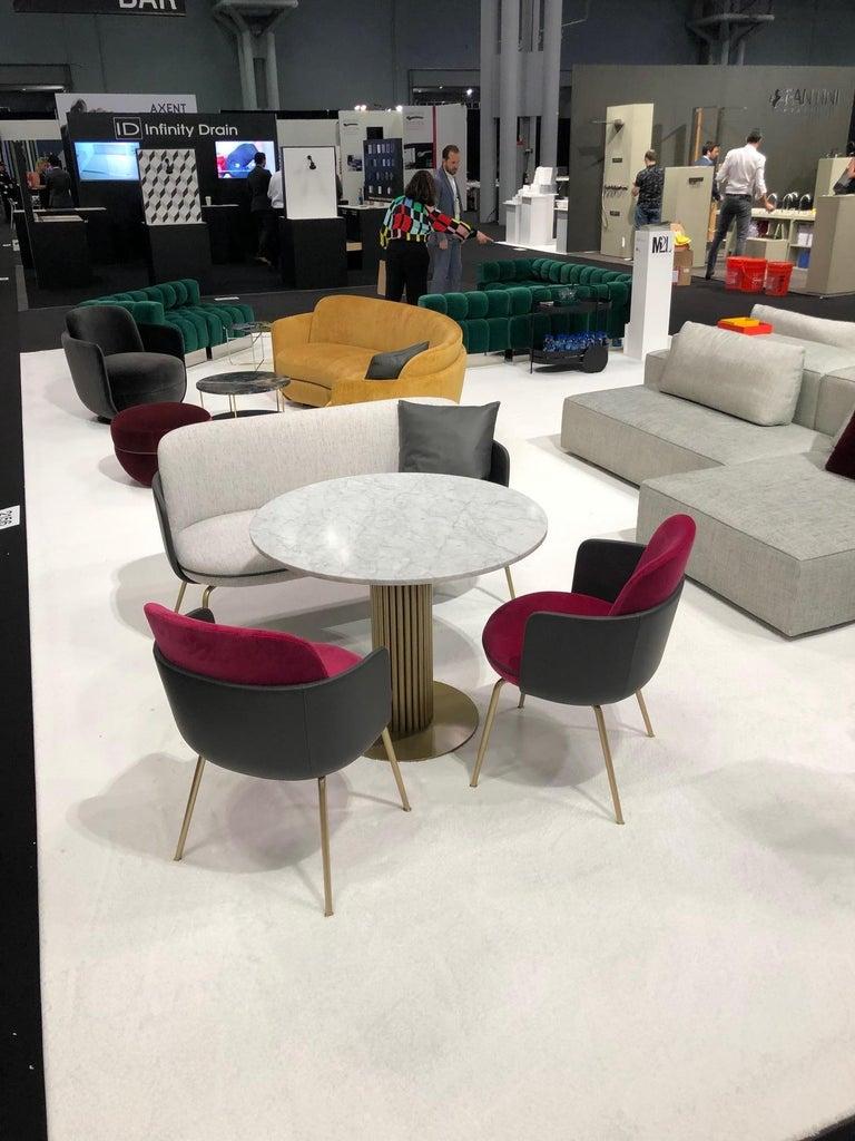 Modern Wittmann Merwyn Armchairs, Sofa Bench and Miles Table by Sebastian Herkner For Sale